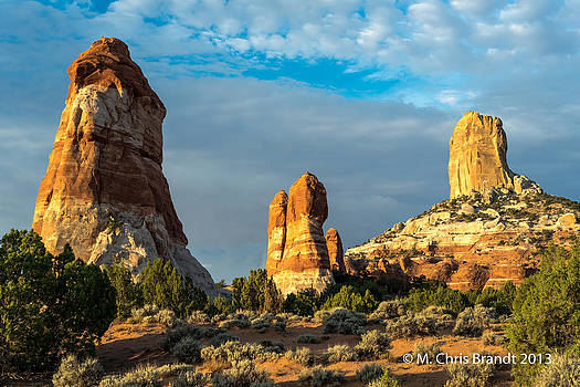 Sunrise on the Towers by M Chris Brandt
