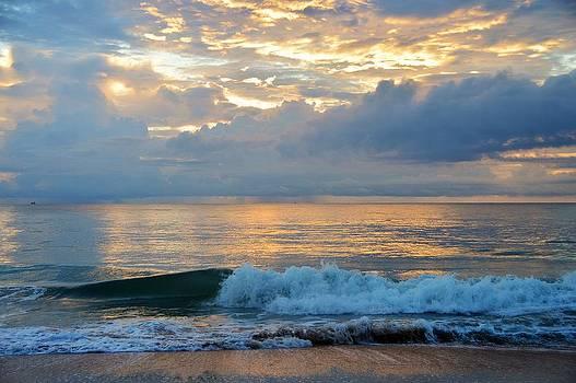 Sunrise on Vilano Beach by David Earl Johnson