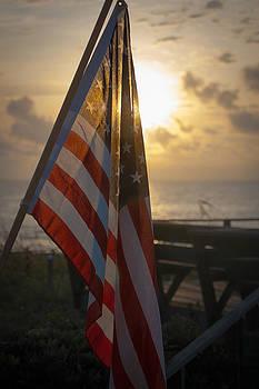 Sunrise over America by David Pinsent