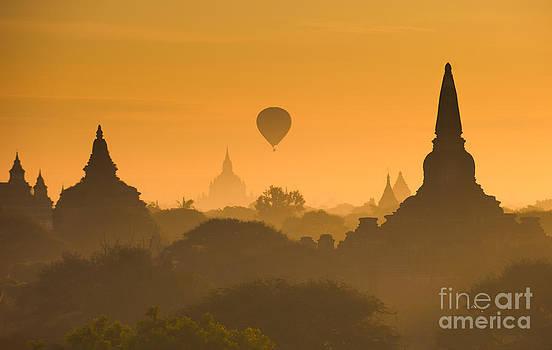 Sunrise over ancient Bagan by Konstantin Kalishko