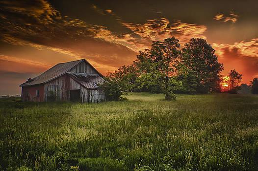 Sunrise over Artsy Fartsy Barn by Bailey and Huddleston