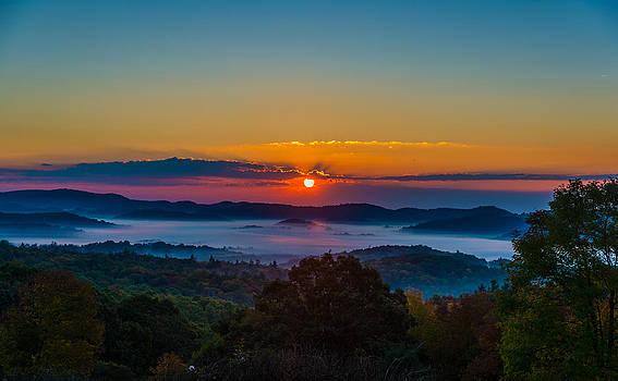 Sunrise over Blowing Rock by Mike Watts
