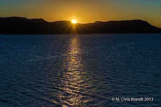 Sunrise over Lake Pleasant by M Chris Brandt