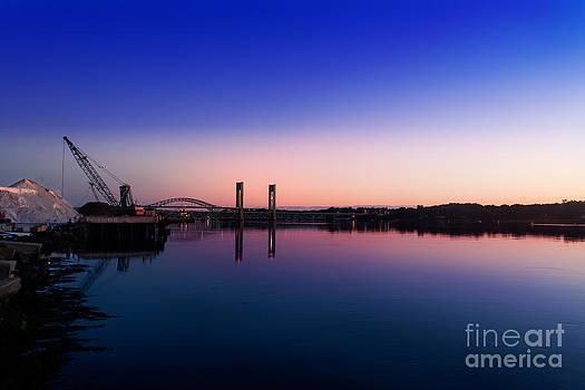 Jo Ann Snover - Sunrise over Portsmouth salt pile