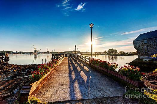 Jo Ann Snover - Sunrise over Prescott Park Portsmouth