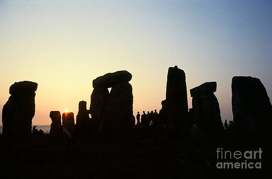 Sunrise over Stonehenge  by Homer Sykes