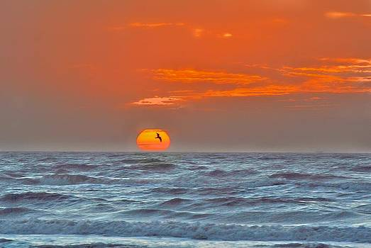 Sunrise Over The Gulf by Larry Bodinson