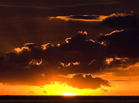 Sunrise Over The Mediterranean  by Austin Brown