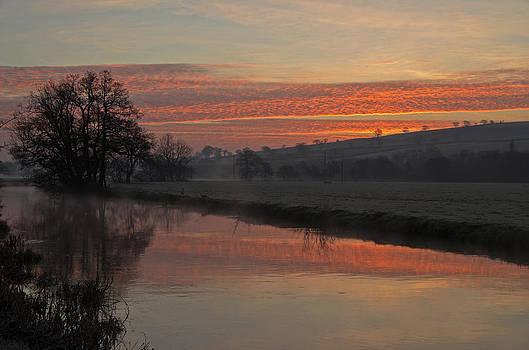 Sunrise over the River Culm by Pete Hemington
