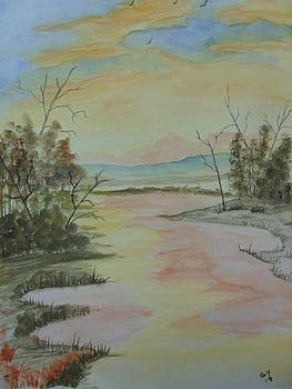 Sunrise Over The Stream by Ginny Youngblood
