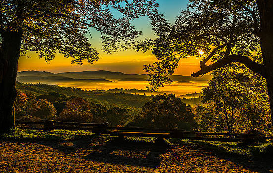 Sunrise Over the Valley by Mike Watts