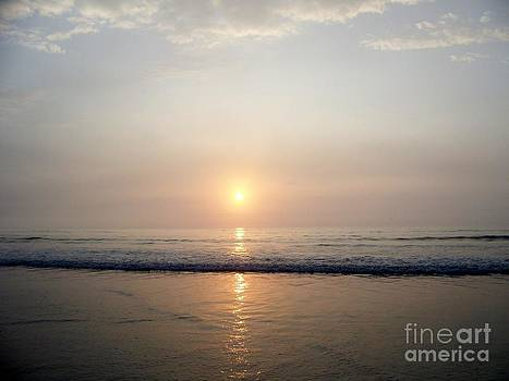 Sunrise Reflection Shines Upon The Atlantic by Eunice Miller