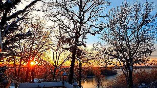 Sunrise Snow and Ice by Cindy Croal