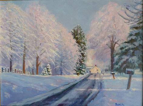 Sunrise Snow by Bonita Waitl
