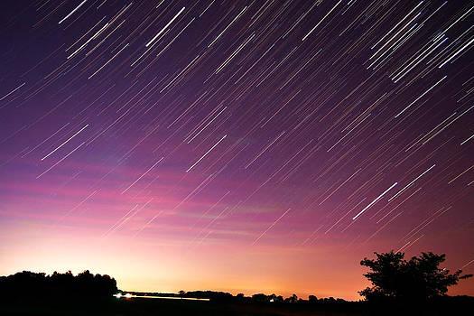 Sunrise Star Trails by Micah Flack