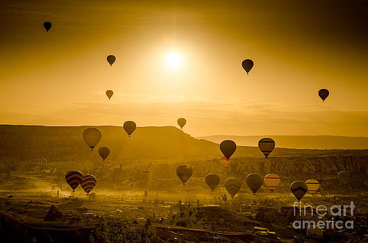 Sunrise takeoff - Cappadocia Turkey by OUAP Photography