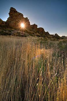 Sunrise through Devil's Backbone Keyhole. HDR. by Preston Broadfoot