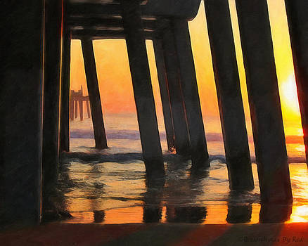 Sunrise Under The Pier by Melody McBride