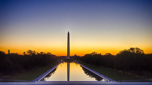 Sunrise View from the Lincoln Memorial by Victoria Porter