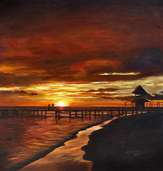 Sunset @ Isla Mujeres by Lorena Bishop