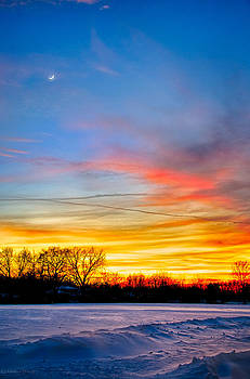 Sunset 1-3-14 North of Chicago by Michael  Bennett