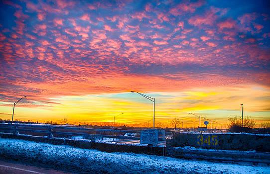 Sunset 1-3-14 northern Illinois 001 by Michael  Bennett