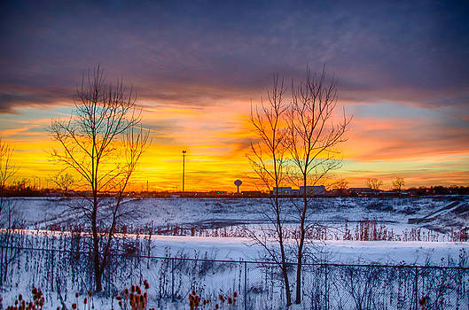 Sunset 1-3-14 Northern Illinois 003 by Michael  Bennett