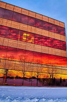 Sunset 1-3-14 Northern Illinois 004 by Michael  Bennett