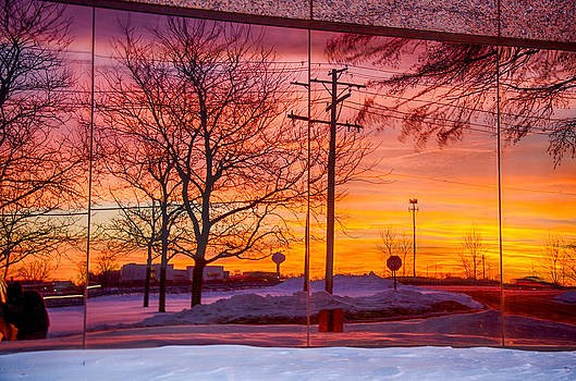 Sunset 1-3-14 northern Illinois 005 by Michael  Bennett