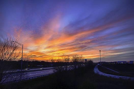 Sunset 11-14-13 4 by Michael  Bennett