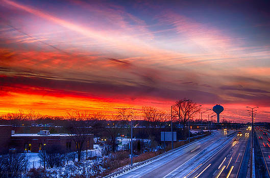 Sunset 12-12-13 North of Chicago by Michael  Bennett
