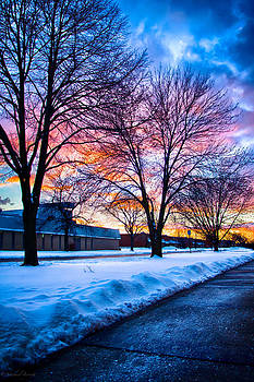 Sunset 12-17-13 North of Chicago by Michael  Bennett