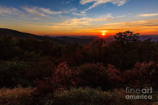 Sunset Along the Blue Ridge Parkway by Mark East