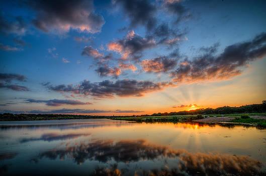 Sunset along the Brushy by Jeffrey W Spencer