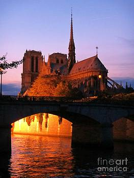 John Malone - Sunset and the Notre Dame Cathedral