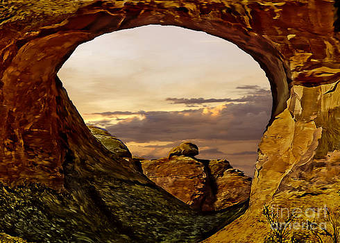 Sunset at Arches National Park by Bob and Nadine Johnston