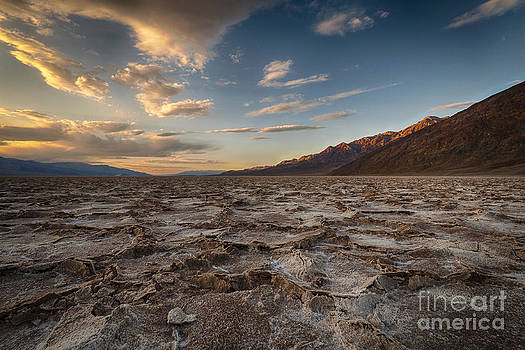 Sunset At BadWater Basin by Jennifer Magallon