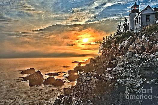 Adam Jewell - Sunset At Bass Harbor