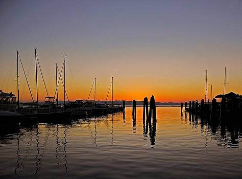Sunset at Burlington Bay - Vermont by Juergen Weiss