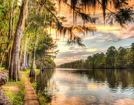 Sunset at Caddo state park HDR by Geoff Mckay