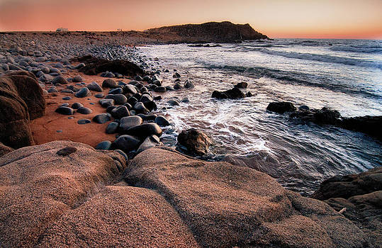 Sunset at Capo Pecora - Sardinia by Laura Melis