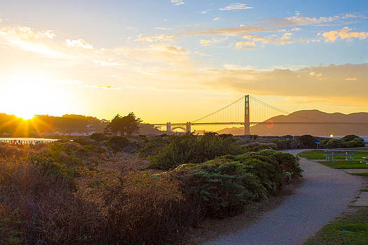 Sunset at Crissy Field with Golden Gate Bridge San Francisco CA 2 by G Matthew Laughton
