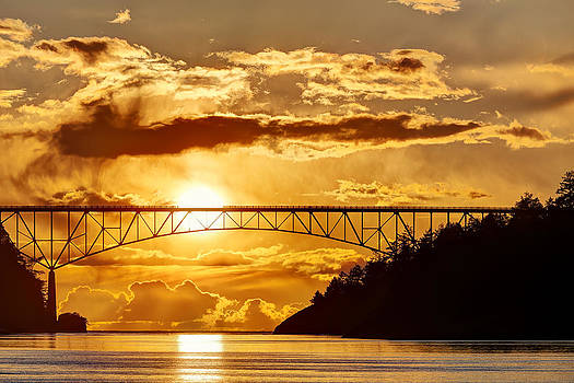 Sunset at Deception Pass by David Williams