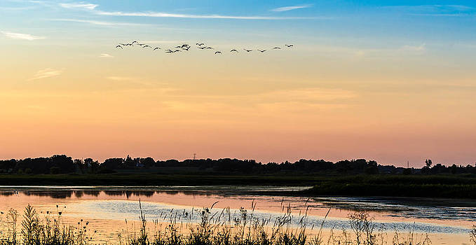 sunset at Horicon by Todd Heckert