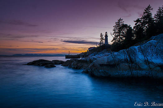 Sunset at Lighthouse Park by Eric Bean