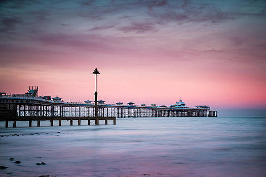 Sunset at Llandudno Pier by Christine Smart