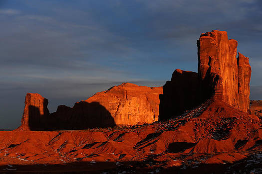 Sunset at Monument Valley by Kim French