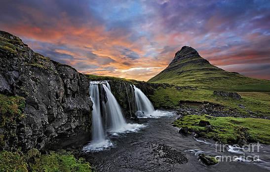 Sunset at Mt. Kirkjufell by Roman Kurywczak