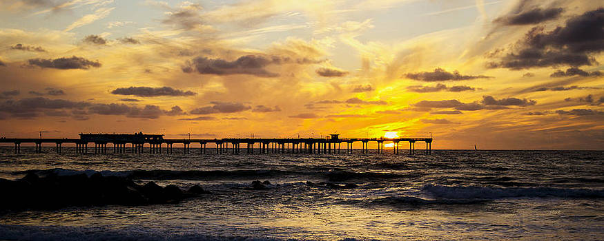 Sunset at Ocean Beach by James Blackwell JR