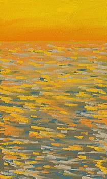 Sunset at sea by Alice Butera
